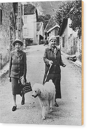 Stein And Toklas, 1944 Wood Print by Granger