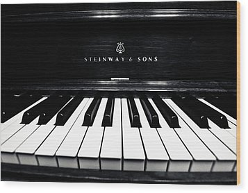 Steinway And Sons Wood Print by Sam Hymas