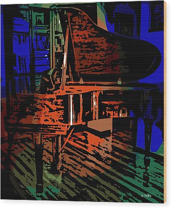 Steinway Piano Wood Print by George Pedro