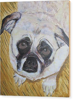 Wood Print featuring the painting Stella by Barbara Giordano