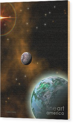 Stellar Smoke Ring Wood Print by Corey Ford