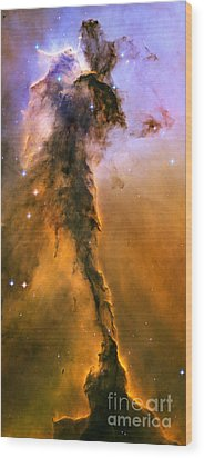 Stellar Spire In The Eagle Nebula Wood Print