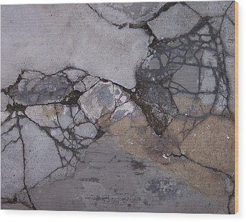 Step On A Crack 2 Wood Print by Anna Villarreal Garbis