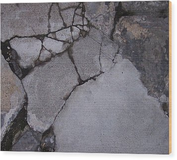 Step On A Crack 3 Wood Print by Anna Villarreal Garbis