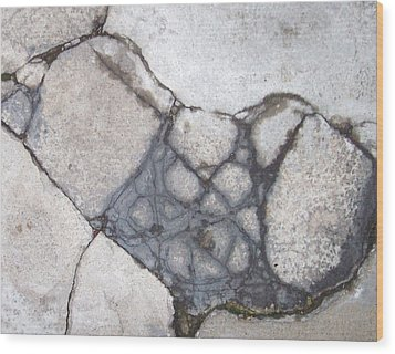 Step On A Crack Wood Print by Anna Villarreal Garbis