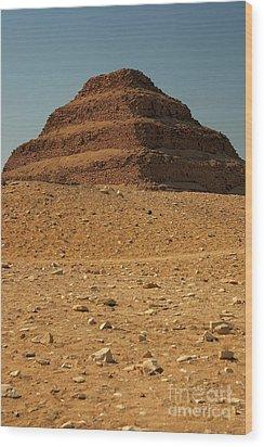 Step Pyramid Wood Print by Joe  Ng