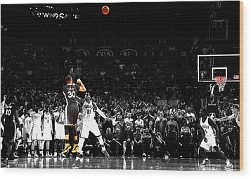 Steph Curry Its Good Wood Print by Brian Reaves