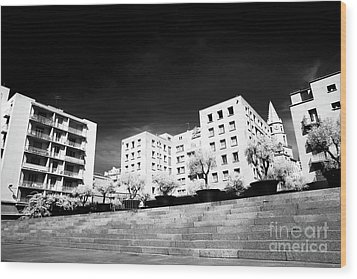 Steps In Marseille Wood Print by John Rizzuto