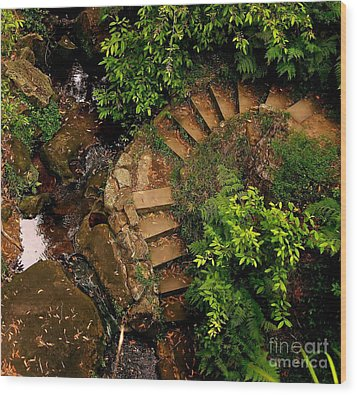 Steps Leading Up The Stairway To Heaven Wood Print by Blair Stuart