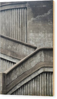 Steps Wood Print by Newel Hunter