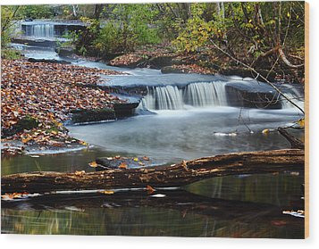 Stepstone Falls Wood Print