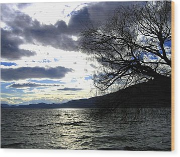 Sterling Silver Sunset Wood Print by Will Borden