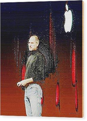 Steve Jobz 5 Wood Print