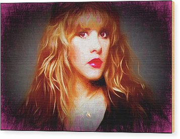 Stevie Nicks Drawing Wood Print