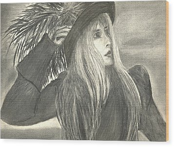 Stevie Nicks Wood Print by Gina Cordova