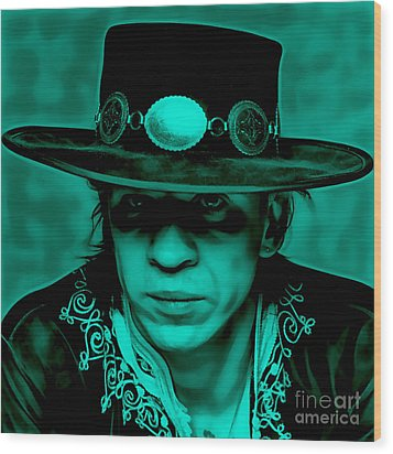 Stevie Ray Vaughan Collection Wood Print