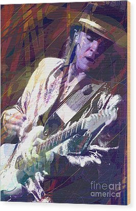 Stevie Ray Vaughan Texas Blues Wood Print by David Lloyd Glover