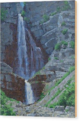 Stewart Falls Wood Print