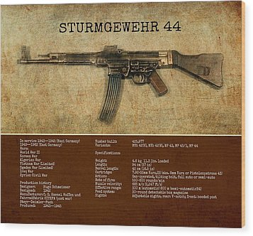 Wood Print featuring the digital art Stg 44 Sturmgewehr 44 by John Wills