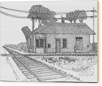 Stiles Jct Depot Wood Print