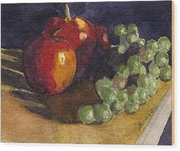 Still Apples Wood Print by Lynne Reichhart