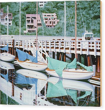 Still In Sausalito - Prints From My Original Oil Painting Wood Print