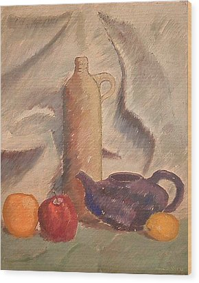 Still Life 1961 Wood Print by Fred Jinkins