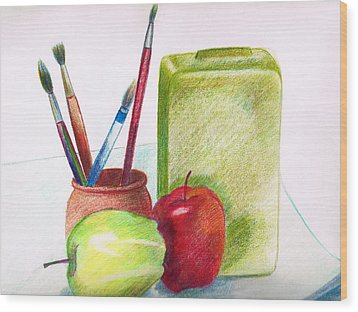 Still Life 2 Wood Print by Zara GDezfuli