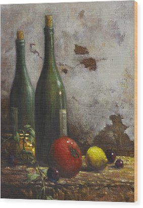 Still Life 3 Wood Print by Harvie Brown