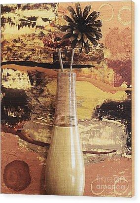 Still Life Abstract Wood Print by Marsha Heiken