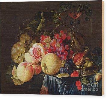 Still Life Wood Print by Cornelis de Heem