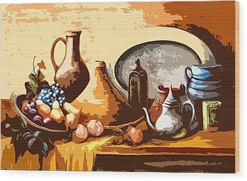 Still Life In Morocco Wood Print