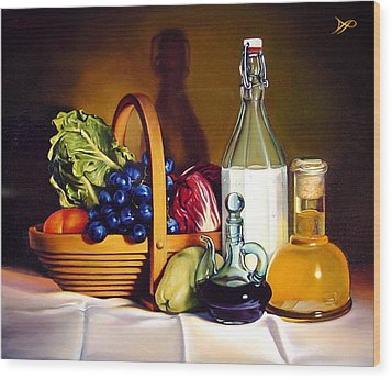 Still Life In Oil Wood Print by Patrick Anthony Pierson