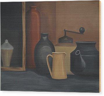 Still Life Wood Print by Katerina Wert