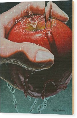 Still Life Sabotage Wood Print by Holly  Bedrosian