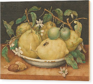 Still Life With A Bowl Of Citrons Wood Print