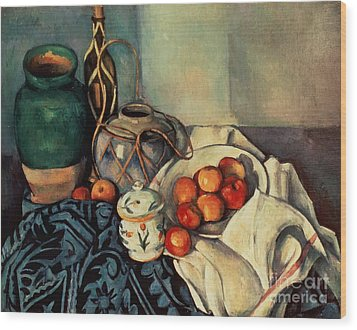 Still Life With Apples Wood Print by Paul Cezanne