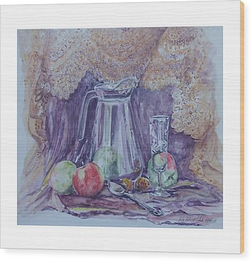 Still Life With Apples Wood Print by Rita Fetisov