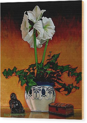 Still Life With Buddha Wood Print by Doug Strickland