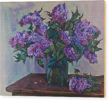 Still Life With Lilac  Wood Print