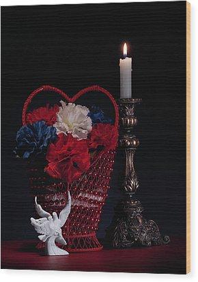 Still Life With Lovebirds Wood Print