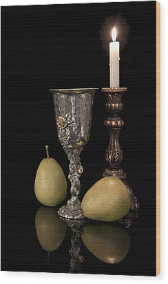 Still Life With Pears Wood Print by Tom Mc Nemar
