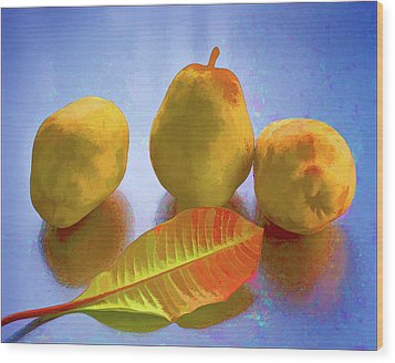 Wood Print featuring the photograph Still Life With Pears by Vladimir Kholostykh