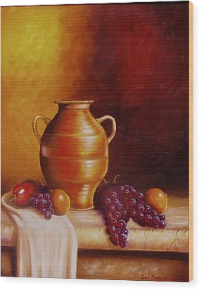 Still Life With Pot Wood Print by Gene Gregory