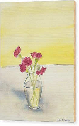 Still Life With Roses Wood Print