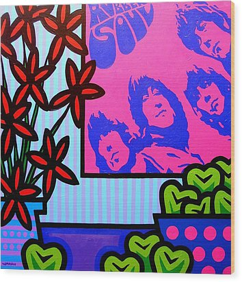 Still Life With The Beatles Wood Print by John  Nolan