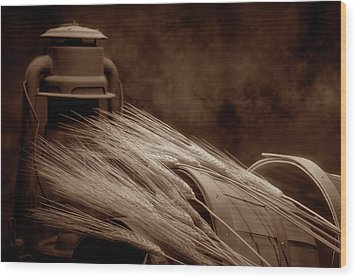 Still Life With Wheat I Wood Print by Tom Mc Nemar