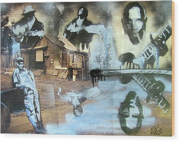 Still Raining Blues Wood Print by Scott Perry and Robert Wolverton Jr