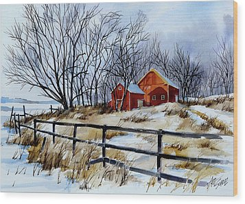 Still Some Snow Wood Print by Art Scholz