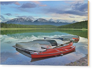 Wood Print featuring the photograph Still Waters At Lake Patricia by Tara Turner
